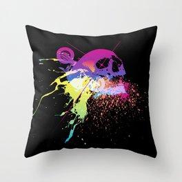 MotoSkull 07 Throw Pillow