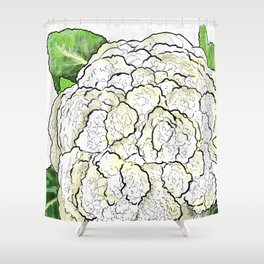 Cauliflower from the Eat Your Veggies Series Shower Curtain