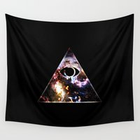 illuminati Wall Tapestries featuring Illuminated by Spooky Dooky