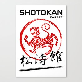 Shotokan Karate Tiger Canvas Print