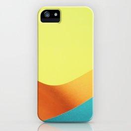 Neon Wave III iPhone Case