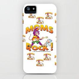 Moms Rock Pattern iPhone Case