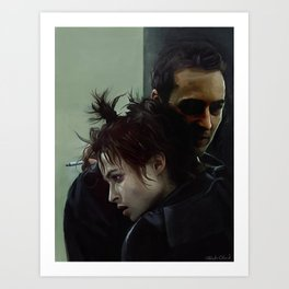 An Embrace With Marla Singer - Fight Art Print