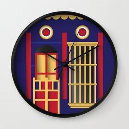 Casita Azul del Saladillo Wall Clock