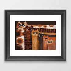 Cat Burglars Framed Art Print