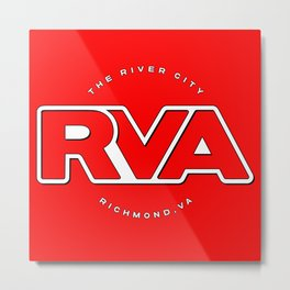 "Rva Logo - Red | "" The River City "" Metal Print"