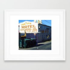FINALLY! FUN CITY Framed Art Print
