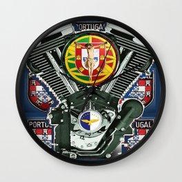Portuguese Biker Quilt 7 Wall Clock
