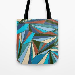 blues in triangle pattern Tote Bag