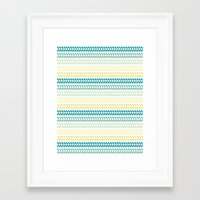 knit Framed Art Prints featuring Knit 1 by K&C Design