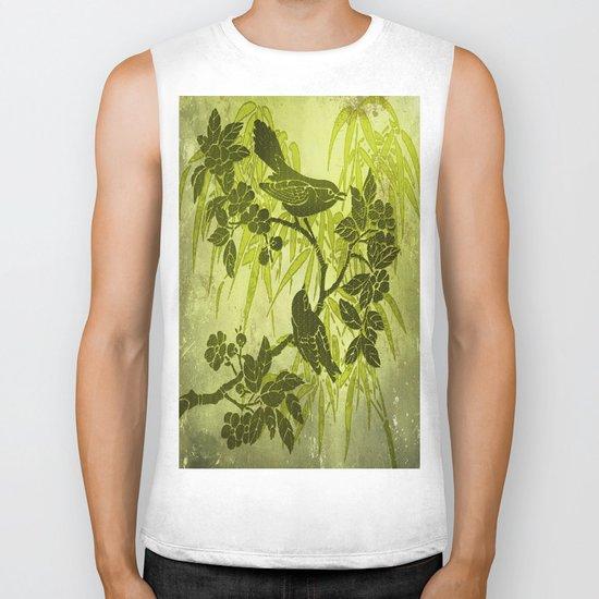Birds on the Tree Biker Tank