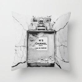 Broken perfume bottle Throw Pillow