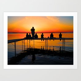 Sconnie Sunset Art Print