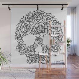 Skull of Roses Wall Mural