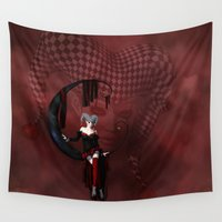 joker Wall Tapestries featuring Joker by Simone Gatterwe