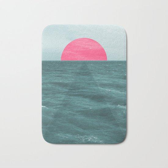 Magenta Sunset Bath Mat
