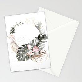 Palm petals illustration Stationery Cards