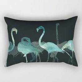 Cold Flamingos in the Night Rectangular Pillow