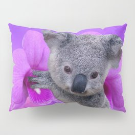 Koala and Orchid Pillow Sham