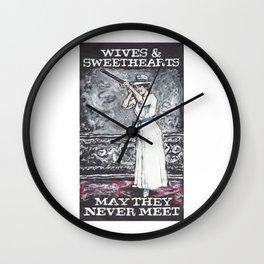 Wives & Sweethearts Wall Clock