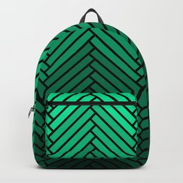 Parquet All Day - Black & Verde Backpack