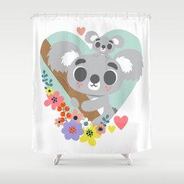 Koala Bear Love / Cute Animal Shower Curtain