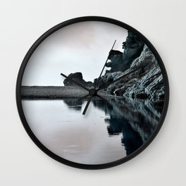 Reflections Of A Floating Coast Wall Clock