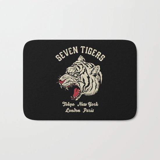 Seven Tigers Bath Mat