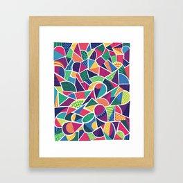Bright Abstract Geo Framed Art Print