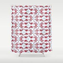Frivolous Flamingos Shower Curtain