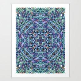 Mystic Abstract Mandala of Peace Art Print
