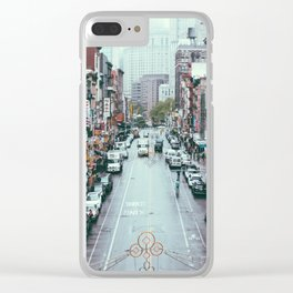 NYC Chinatown Clear iPhone Case