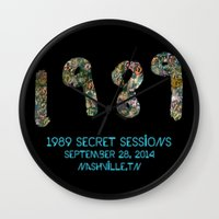 1989 Wall Clocks featuring 1989 Secret Sessions Anniversary by Alexander Studios