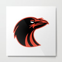Angry Raven Head Icon Metal Print