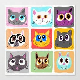 Hollywood Cats Canvas Print
