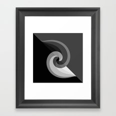 gray Framed Art Print