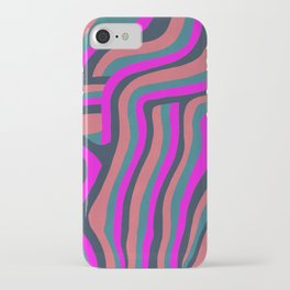 psychedelic zebra iPhone Case