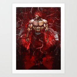 Baki the king Yujiro Hanma Art Print