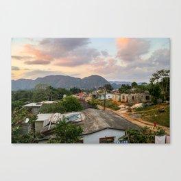 Village in Vinales Canvas Print
