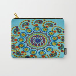 Neon Blossom Carry-All Pouch