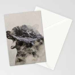 Bear In The Fog Stationery Cards