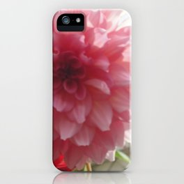 Pretty Pink Dahlia Ruffles iPhone Case