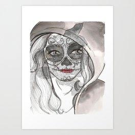 Woman bones Art Print