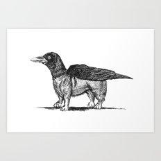 Crowgi Art Print