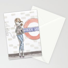 Woman at Baker Street Stationery Cards