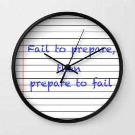 School Paper Wall Clock