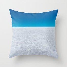 Wide Open Spaces, Salar de Uyuni Salt Flat, Bolivia Throw Pillow