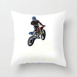 Dirt Bike Out Motocross Gift Dirt Ain't Flying Dirt Bike Product Throw Pillow
