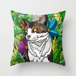 Ellie in the woods Throw Pillow