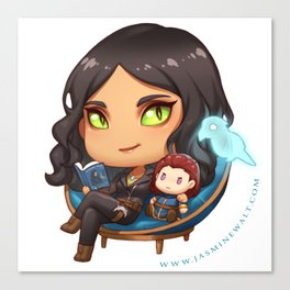 Sunaya Reading Chibi Canvas Print